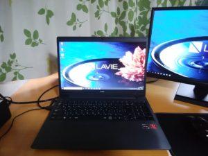 ノートパソコン NEC LAVIE PC-NS600/NABのレビュー用画像
