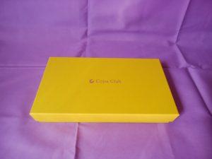 金運 長財布 パイソンL字ファスナー ゴールドの入っている黄色い箱